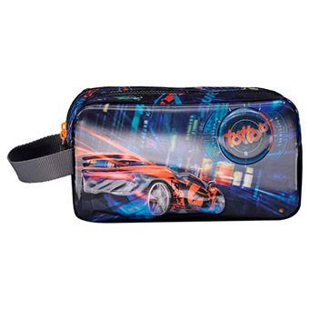 Portatodo Totto con 2 compartimentos Tuning Car Azul