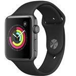 Apple Watch S3 42mm GPS Caja de aluminio en gris espacial y correa deportiva negra