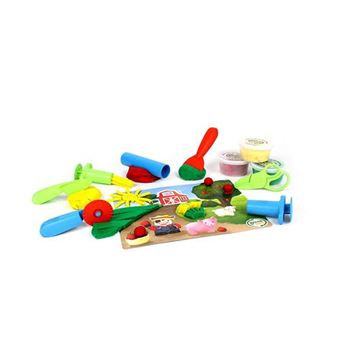 Green Toys- Set de juego y herramientas Plastilina Eco