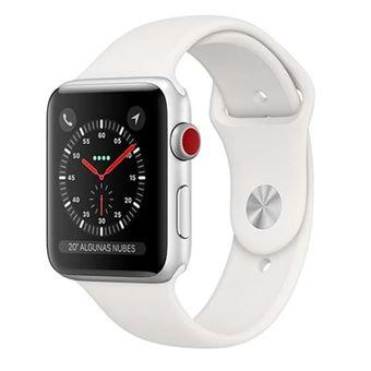 Apple Watch S3 38mm LTE Caja de aluminio en plata y correa deportiva Blanco