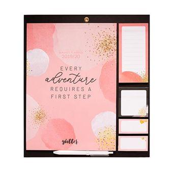 Planificador magnético Erik mensual 2019|20 Glitter Gold Dreams Rosa
