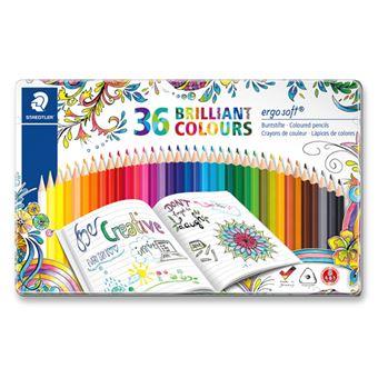 Estuche metálico con 36 lápices de colores Staedtler Johanna Basford Ergosoft
