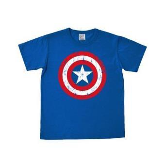 Camiseta Capitán América Escudo - Azul M