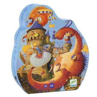 Puzzle silueta Vaillant y dragón