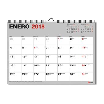 miquelrius calendario 2018 a3 pared para escribir