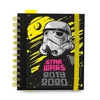 Agenda escolar Erik 2019 20 Día por página Star Wars Negro