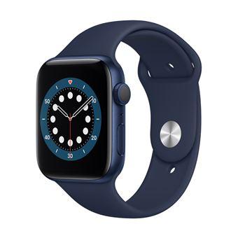 Apple Watch S6 44 mm GPS Caja de aluminio en Azul y correa deportiva Azul marino
