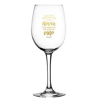 Mr Wonderful Copa de Vino  - Con tanto preparativo esta novia merece una copa de vino