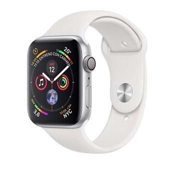 Apple Watch S4 40mm GPS Caja de aluminio en plata y correa deportiva Blanca