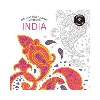 India. Minilibro antiestrés para colorear