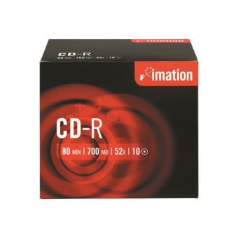 Imation Pack de 10 CD-R 700MB Slim Case