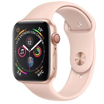 Apple Watch S4 44mm LTE Caja de aluminio en oro y correa deportiva rosa arena