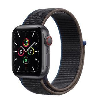 Apple Watch SE 40 mm LTE Caja de aluminio en gris espacial y correa deportiva Loop Charcoal
