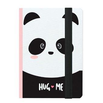 Cuaderno pequeño Legami rayas tapa dura Panda rosa