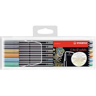 Pack 6 rotuladores Stabilo Pen 68 Metallic  - Colores surtidos