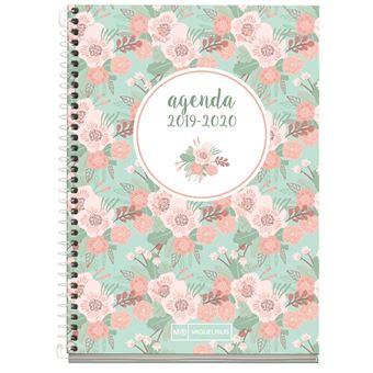 Agenda Miquelrius 2019/20 Semana Vista + Mes Vista Floral