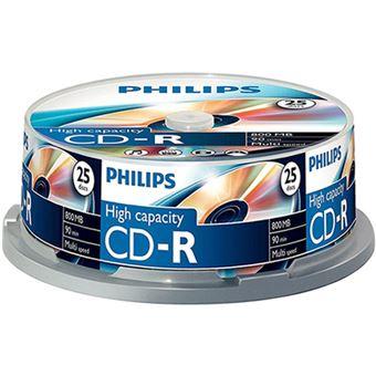 Tarrina Philips 25 CD-R 800MB