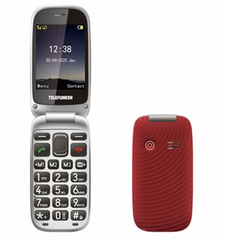 Teléfono móvil Telefunken S560 Rojo