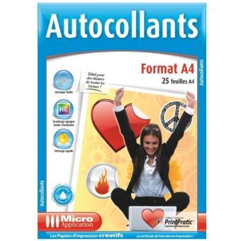 Micro Application A4 Autoadhesivos 25 hojas