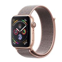 Apple Watch S4 40mm GPS Caja de aluminio en oro y correa Loop deportiva Rosa arena