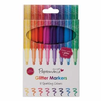 Set Scrap 8 rotuladores con punta de fibra de purpurina