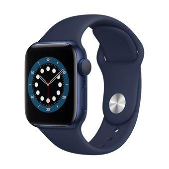 Apple Watch S6 40mm GPS Caja de aluminio en Azul y correa deportiva Azul marino