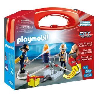 Playmobil City Action Maletín grande Bomberos