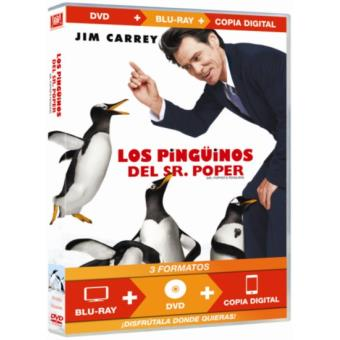 Los pinguinos del Sr.Poper  (DVD + Blu-Ray) + Copia digital - DVD
