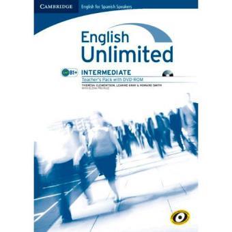 English Unlimited for Spanish Speakers: Intermediate Teacher's Pack (Nivel B1+, libro + DVD)
