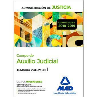 Cuerpo de Auxilio Judicial de la Administración de Justicia - Temario volumen 1