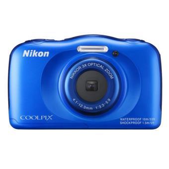 Cámara sumergible Nikon W100 azul + Mochila