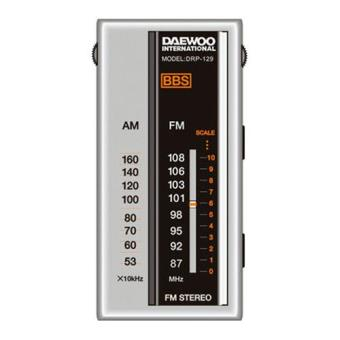 Radio Portátil Daewoo DRP129 AM/FM Plata