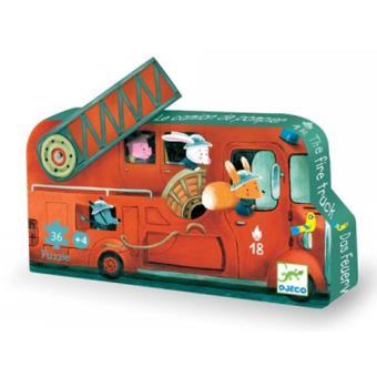 Puzzle silueta camión de bomberos (16 piezas)