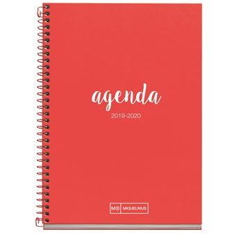 Agenda Miquelrius 2019/20 Semana Vista + Mes Vista Lettering Rojo