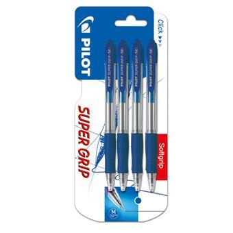 Pack 4 bolígrafos Pilot Supergrip Tinta azul