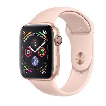 Apple Watch S4 44mm GPS Caja de aluminio en oro y correa deportiva Rosa Arena