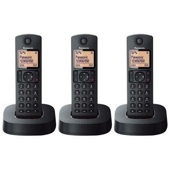 Teléfono inalámbrico Panasonic Dect KX-TGC313SPB  Negro Trío