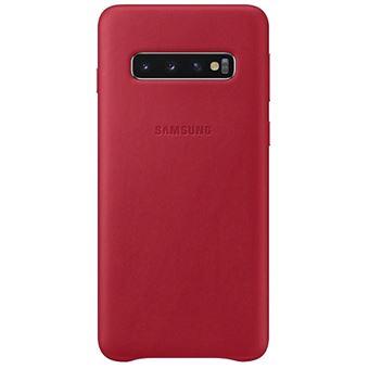 Funda de cuero Samsung para Galaxy S10 Rojo