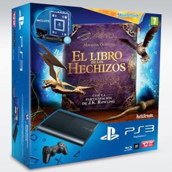 PS3 12GB + Wonderbook Move Pack