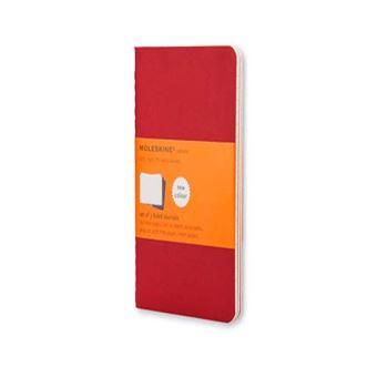 Cuaderno Moleskine de viaje Cahier Bolsillo Pautado Rojo Arándano