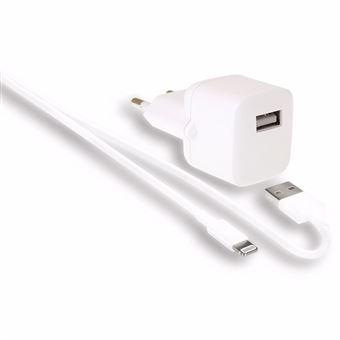 Cargador Wefix lightning USB-A 2.4A Blanco