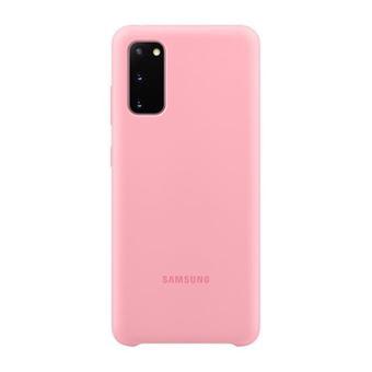 Funda de silicona Samsung Rosa para Galaxy S20