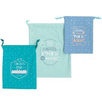 Mr Wonderful Set de bolsas de tela organizadoras para los imprescindibles de tu bebé