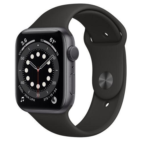 Apple Watch Series 6 44 mm aluminio gris espacial correa deportiva negro