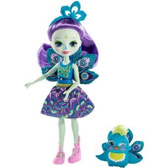 Muñeca Enchantimals Patter Peacock y Flap Mattel FXM74