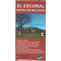 El Escorial - Sierra de Malagón - Mapa excursionista y turístico