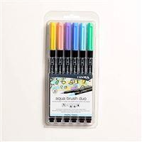 6 rotuladores Lyra Aqua Brush Duo tonos pastel