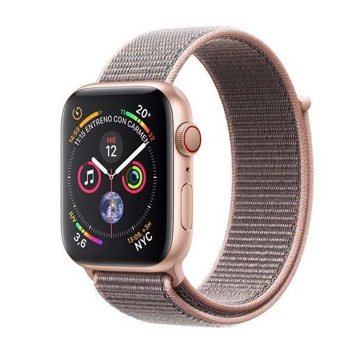 Apple Watch Series 4 GPS + Cellular 40 mm aluminio en oro correa Loop deportiva rosa arena