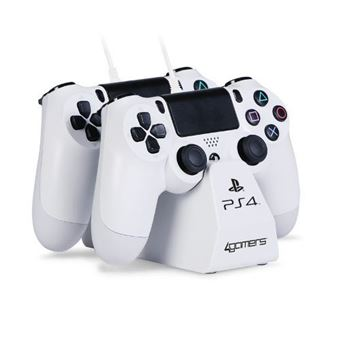Base de carga doble para mandos + Cable Blanco PS4