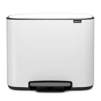 Cubo de basura Brabantia Bo Pedal  36 L Blanco